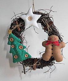 Dekorácie - Vianočný venček - 11289532_