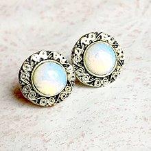 Náušnice - Vintage Opalite Stud Earrings / Náušnice s opalitom - 11286939_