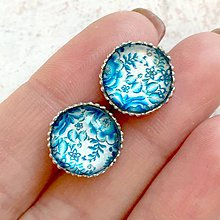Náušnice - Folklore Stud Stainless Steel Earrings / Folklórne náušnice z chirurgickej ocele - 11287406_