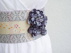 Opasky - Romantický textilný opasok - 11285845_