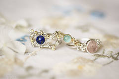 Prstene - Zlatý prsteň s akvamarínom - Bokeh Gold Aqua - 11285885_