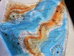 Šatky - Mai il mio cuore... / hedvábný šátek 55 x 55 cm/ - 11288527_