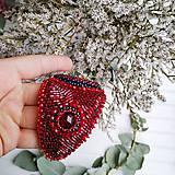 Náramky - Red Velvet Dragonfly  - vyšívaný náramek - 11287736_