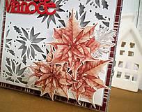 Papiernictvo - Vianočná hviezda pohľadnica - 11286891_