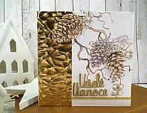 Papiernictvo - Veselé Vianoce šišky pohľadnica - 11286906_