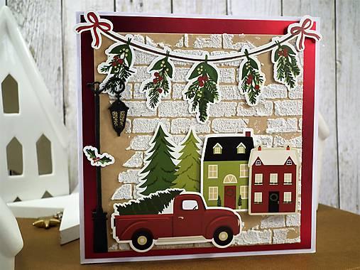 Domov na Vianoce pohľadnica