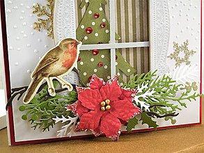 Papiernictvo - Vianočné okno pohľadnica - 11286883_