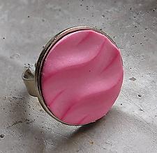 Prstene - prstienok vlnky ružový - 11288164_