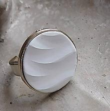Prstene - prstienok vlnky biely - 11288182_