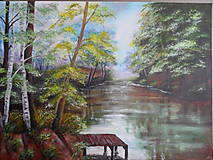 Obrazy - Poludnie pri rieke - 11287563_