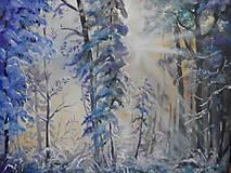 Obrazy - Zima a svitanie - 11287602_