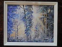 Obrazy - Zima a svitanie - 11287603_