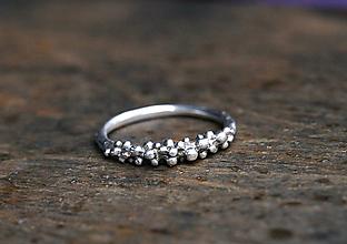 Prstene - Strieborný bublinkový - 11286434_
