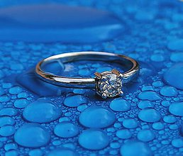 Prstene - Prsteň zásnubny 4mm diamant - 11287063_