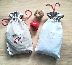 Iné tašky - Darčekové vrecúško - sneží - 11289066_