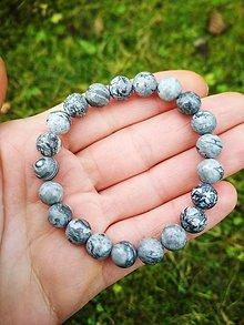 Náramky - Náramok zo sivého jaspisu - 11286611_