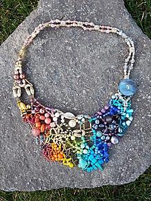 Náhrdelníky - Farebný náhrdelník - 11289633_