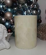 Svietidlá a sviečky - Palmová sviečka valec 13 cm 800g - 11288471_