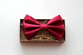 Doplnky - elegantný motýlik vínový - 11289410_