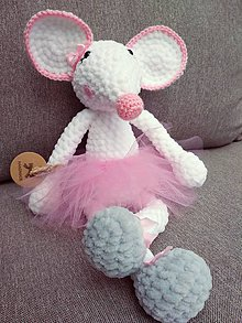 Hračky - Myšička Balerína - 11287418_