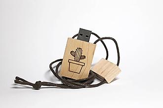 Drobnosti - DREVENÉ USB_KAKTUS - 11289486_