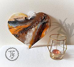 Dekorácie - Ohnivé srdce - 11288860_