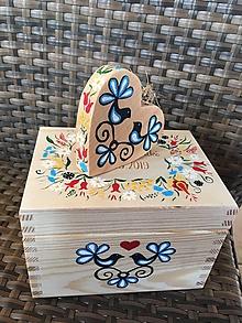 Iné doplnky - Drevená krabička - 11287894_