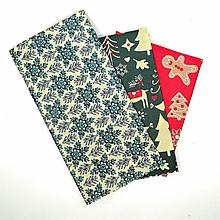 Úžitkový textil - Voskový obrúsok - Vianočná sada - 11286738_