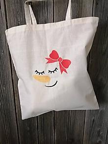 Nákupné tašky - Nákupná taška s vianočnou výšivkou - 11286603_