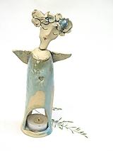 Svietidlá a sviečky - Anjel svietnik vysoký - 11287562_