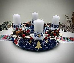 Dekorácie - Folklórny adventný veniec - 11287933_