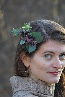 Ozdoby do vlasov - Kvetinový hrebienok - 11286937_