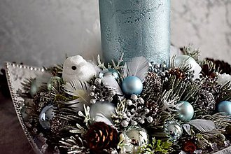 Dekorácie - Vianočná dekorácia s vtáčikom - 11289626_