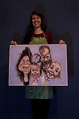 Obrazy - Karikatúra podľa fotky (Maľované na plátne (farebne, 1 tvár)) - 11289300_