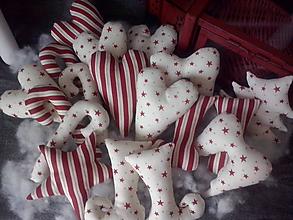 Dekorácie - Bordovo-smotanové vianočné ozdoby - 11285753_