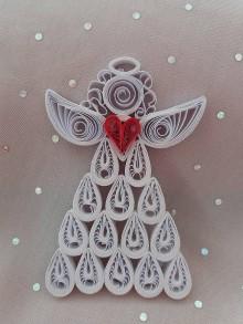Dekorácie - Vianočný anjel - 11288047_