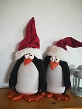 Dekorácie - Vianoční tučniaci - 11285936_