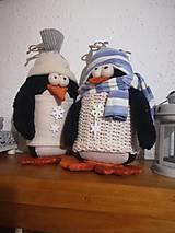 Dekorácie - Vianoční tučniaci - 11285937_