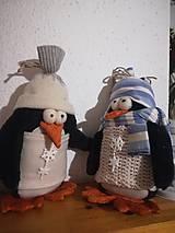 Dekorácie - Vianoční tučniaci - 11285939_