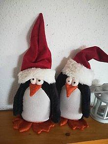 Dekorácie - Vianoční tučniaci - 11285931_