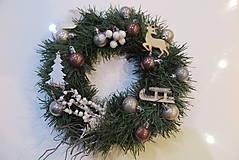 Dekorácie - Vianočný veniec na dvere - 11288130_