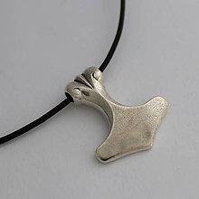Šperky - prívesok Boha hromu - Thórovo kladivo (Mjöllnir) (strieborný Thoráč) - 11287744_