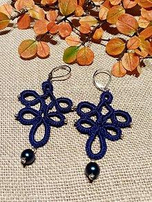 Náušnice - Tmavo-modré Amélie - 11289350_