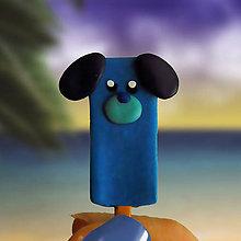 Magnetky - Nanukové magnetky  (modrý pes) - 11287276_