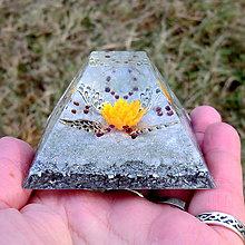 Dekorácie - Andělský květ * Oranž * Velká pyramid Moudrost - 11292791_