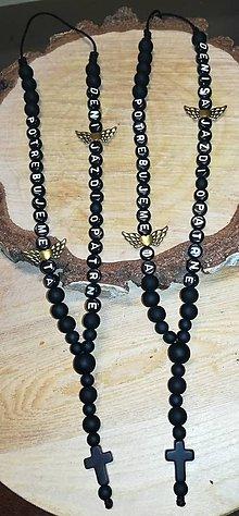 Iné šperky - Prívesok alebo amulet do auta  Privesok na želanie s textom menom alebo dátumom aj farebne podla vašeho priania použitý - 11292785_