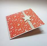 Papiernictvo - Pohľadnica ... vianočná hviezdička VI - 11292072_