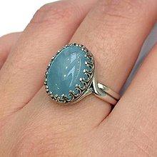 Prstene - Black Agate Ring Silver Ag925 / Strieborný prsteň s čiernym achátom - 11290312_