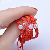 Náramky - pre bábätko pletený kabbalah náramok krištáľ práskaný - 11290242_