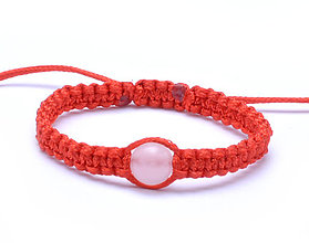 Náramky - pre bábätko kabbalah náramok ruženín - 11290231_